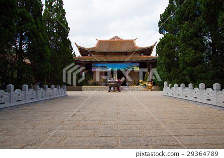 Truc Lam Chinese temple in Dalat city, Vietnam. 29364789