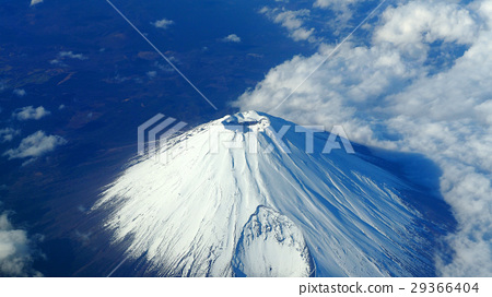 Top view of Mt. Fuji mountain. 29366404