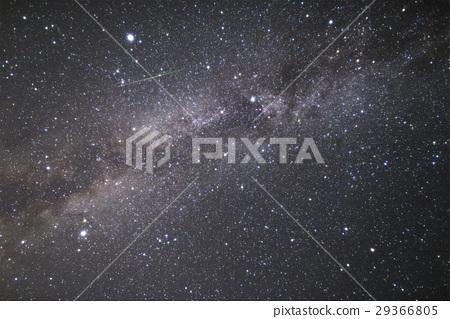 """""""长野县的阿奇村""""日本的第一个星空 - 银河系和流星 -  29366805"""