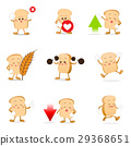 Collection of bread cartoon vector illustration 29368651