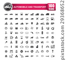 100 icons set of auto transport and logistic 29368652