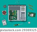 Assembling PC. Personal computer hardware. 29369325