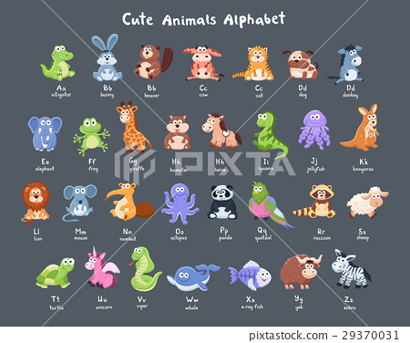 cartoon animals collection 29370031