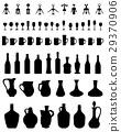 bowls, bottles, glasses and corkscrew 29370906