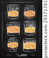 whiskey, whisky, vector 29371761