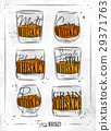 whiskey, whisky, vector 29371763