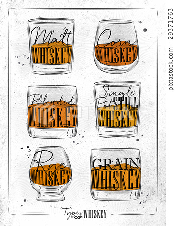 Poster types whiskey dirty paper 29371763