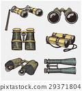 Binocular monocular vintage, engraved hand drawn 29371804