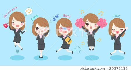 cute cartoon business woman 29372152