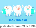 tooth with mouthwash 29372196