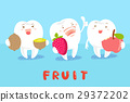 tooth with health fruit 29372202