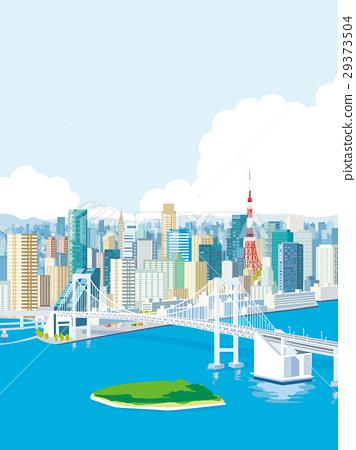 도쿄의 거리 풍경 레인보우 브릿지 29373504