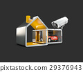Home security system, 3d illustration, isolated 29376943
