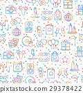Party celebration seamless pattern. Birthday 29378422