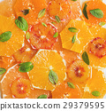 Fresh citrus fruit salad with mint and honey 29379595