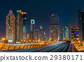 Skyline of Dubai downtown, UAE 29380171
