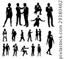 Business People Silhouettes 29380462