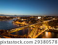 Aerial night view of Porto (Oporto), Portugal 29380578