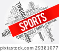 Sports word cloud collage 29381077