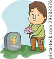 Man Visit Dead Pet Dog 29382876