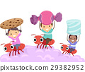 Stickman Kids Ride Ant Carry Sweets 29382952