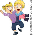 Kids Boy Carry Girl Sister 29382958