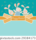 Cute bunnies celebrating Easter 29384173
