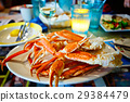 Plate with crab legs in a restaurant in Key West 29384479