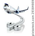 cartoon airplane jet 29384669
