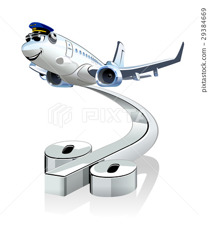 Vector Cartoon Airliner 29384669