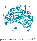 澳大利亚 澳洲 图标 29385372