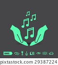 music pictograph vector 29387224