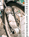 Close Up Of Bike Headlight And Wheel Of Bicycle On 29388130