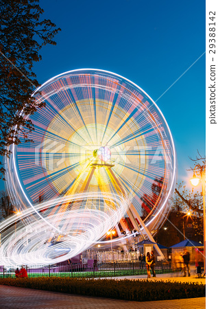 Rotating In Motion Effect Illuminated Attraction 29388142