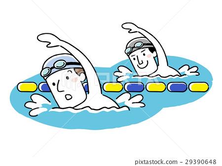 矢量 游泳 爬行 29390648
