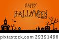 halloween orange grave 29391496