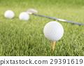 Golf ball on tee 29391619