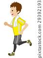 running, male, man 29392193