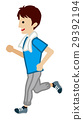 running, male, man 29392194
