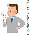 커피를 마시는 남성 사원 29393338