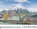 Aerial view of Singapore shipping port  29399766