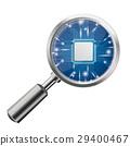 Loupe Blue Microchip 29400467