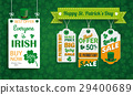 Vintage St Patricks Day Board Hat 3 Price Stickers 29400689
