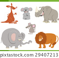 animals, cartoon, illustration 29407213