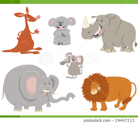 cartoon animals set illustration 29407213