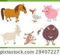 cute farm animal characters set 29407227