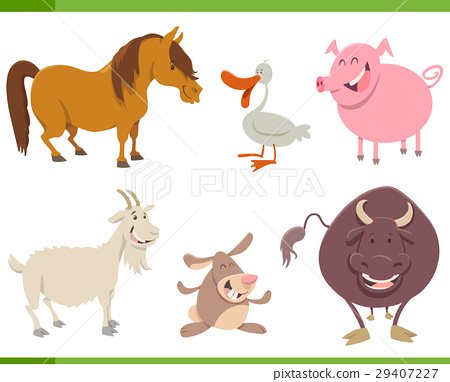 cute farm animal characters set 29407227