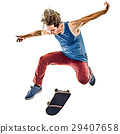 skateboarder young teenager man isolated 29407658