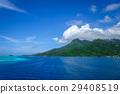Moorea island and pacific ocean lagoon landscape 29408519