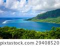 Aerial view of Opunohu Bay in Moorea Island 29408520